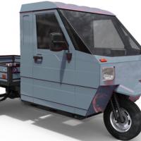 Грузовой трицикл с кабиной бортовой российского производства серый