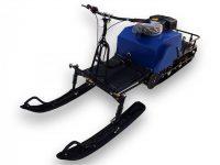 Мотобуксировщик Лидер с лыжным модулем
