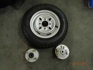 13. Собрать передние тормоза переднее и задние колеса