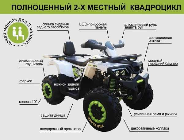 Квадроцикл Motoland 200 Wild Truck